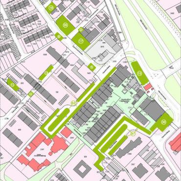 Freie Parkplätze am Einkaufszentrum Heimersdorf