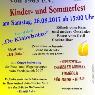 Kinder- und Sommerfest –  Große KG Köln-Nord von 1963 e.V.