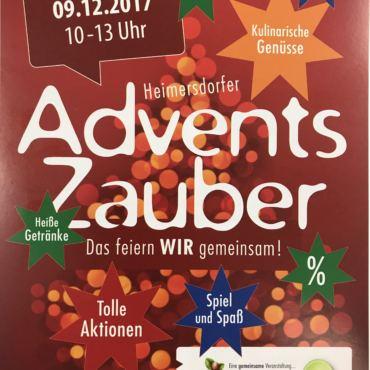 Adventszauber im Einkaufszentrum Heimersdorf, Samstag, 09.12.2017 10-13 Uhr