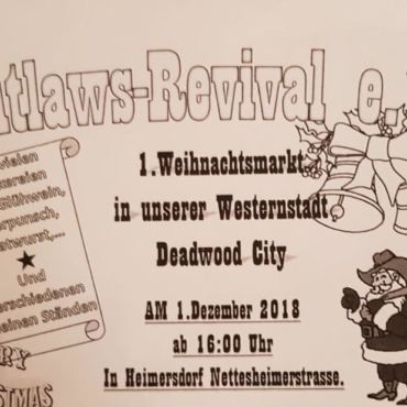 1. Weihnachtsmarkt in der  Westernstadt Deadwood City