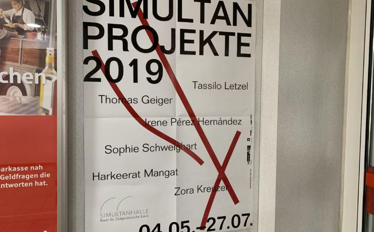 Offizielle Ausstellungseröffnung von Zora Kreuzer und Thomas Geiger, im Einkaufszentrum Heimersdorf ein Simultan Projekt